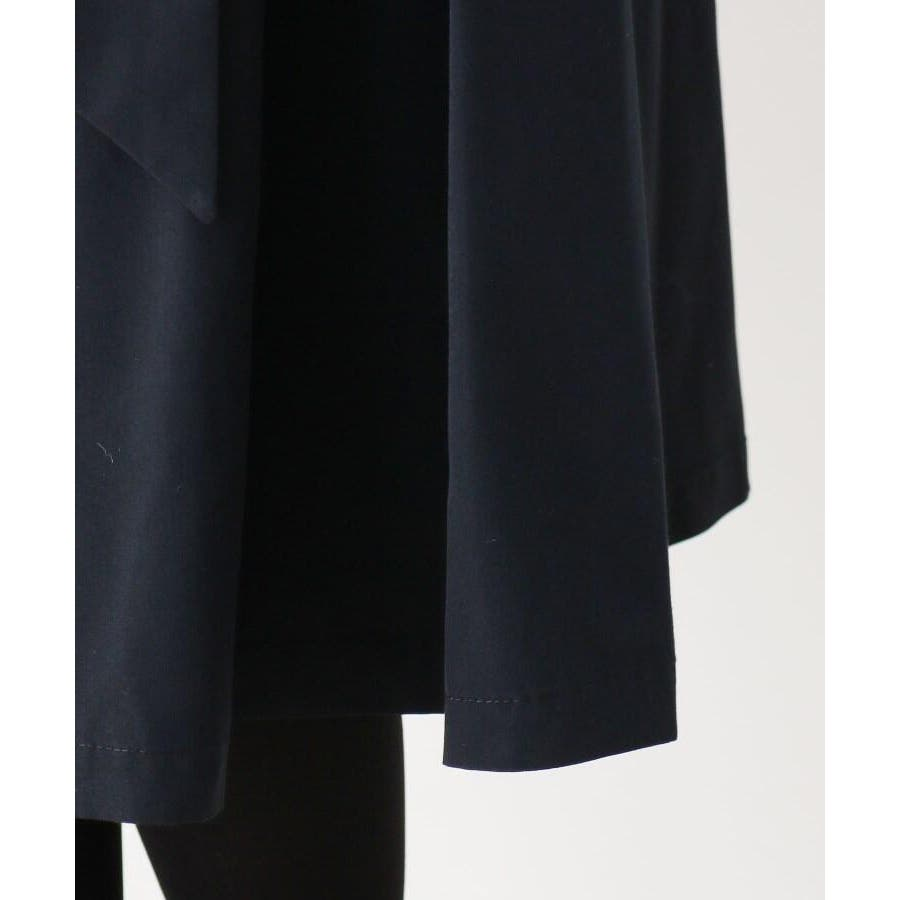 【洗える】リボンベルトタフタフレアスカート 6