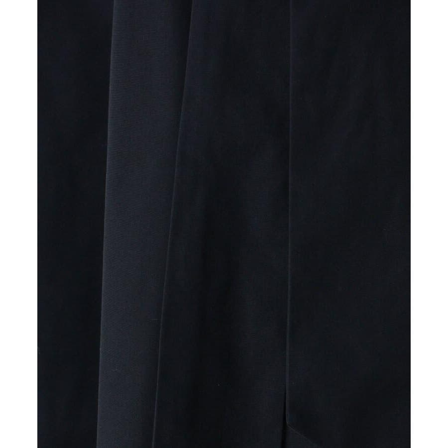 【洗える】リボンベルトタフタフレアスカート 7
