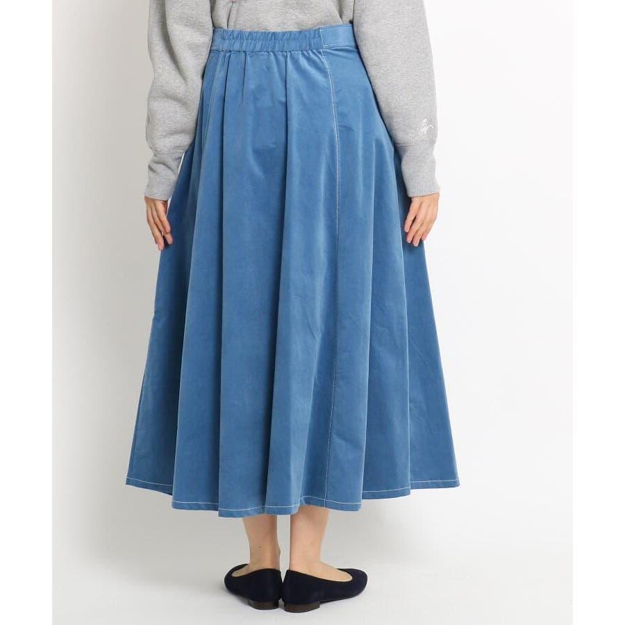【Sサイズあり 洗える】超長綿コーデュロイフレアスカート 4