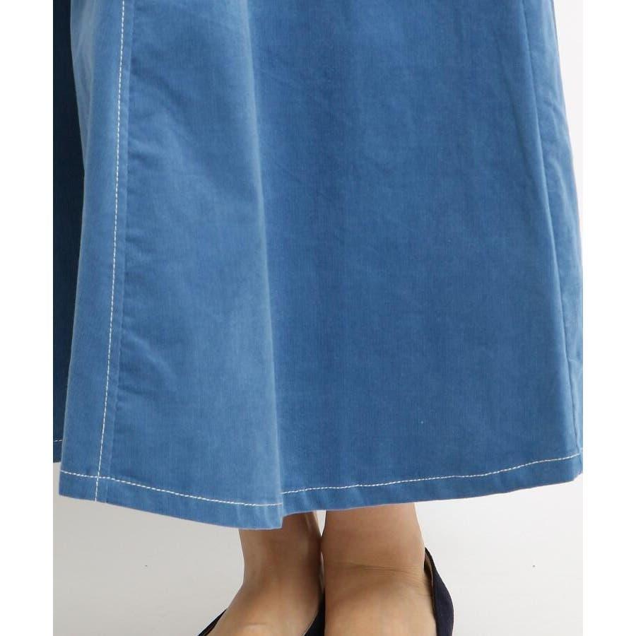 【Sサイズあり 洗える】超長綿コーデュロイフレアスカート 6
