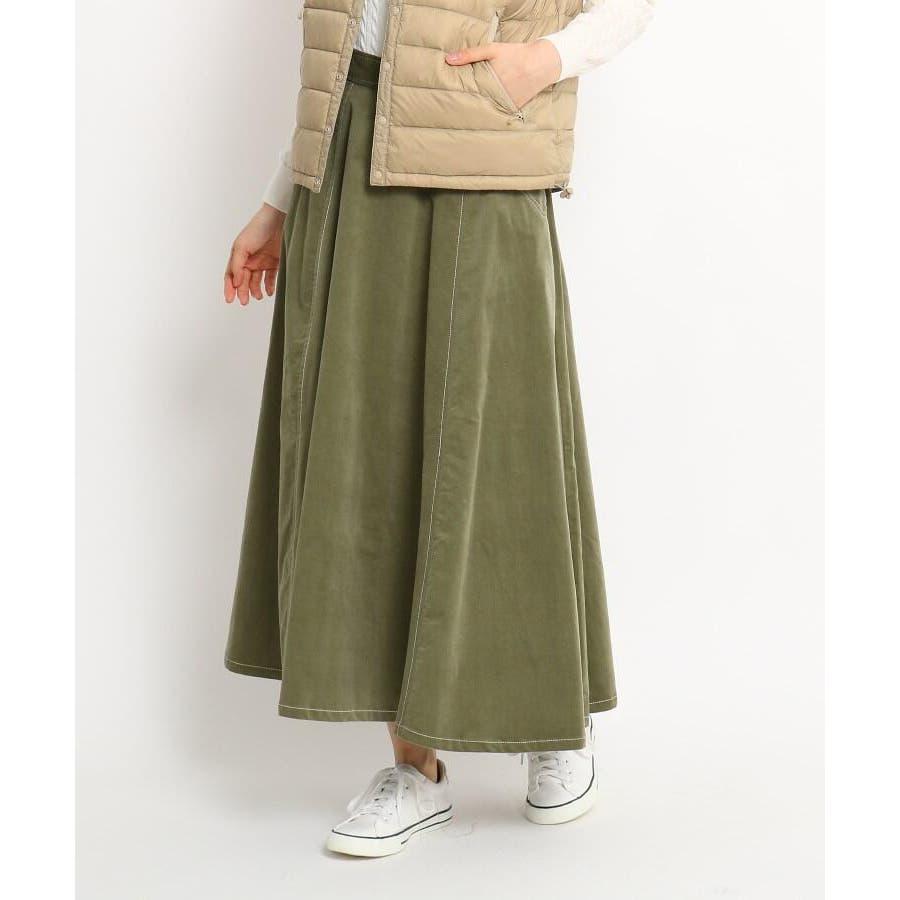 【Sサイズあり 洗える】超長綿コーデュロイフレアスカート 52