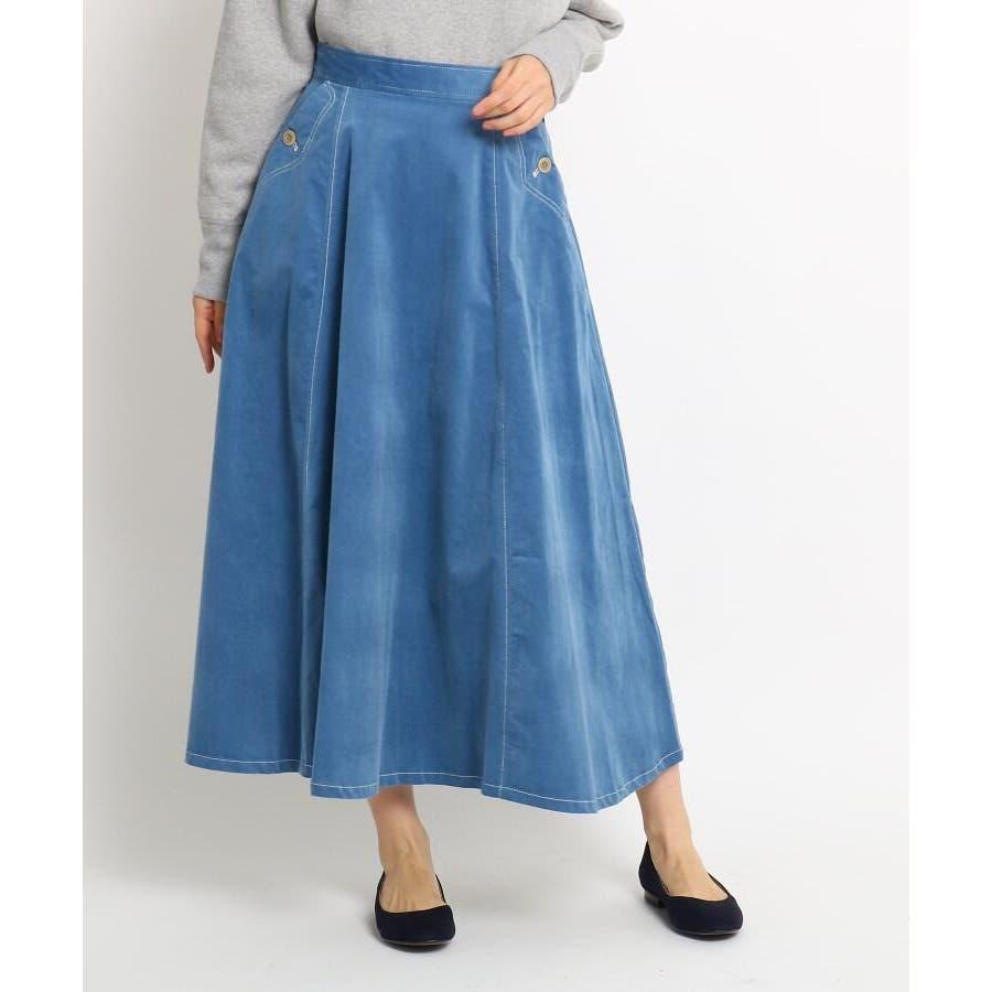 【Sサイズあり 洗える】超長綿コーデュロイフレアスカート 60