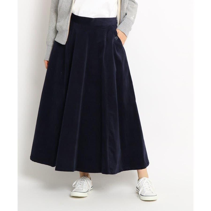 【Sサイズあり 洗える】超長綿コーデュロイフレアスカート 64