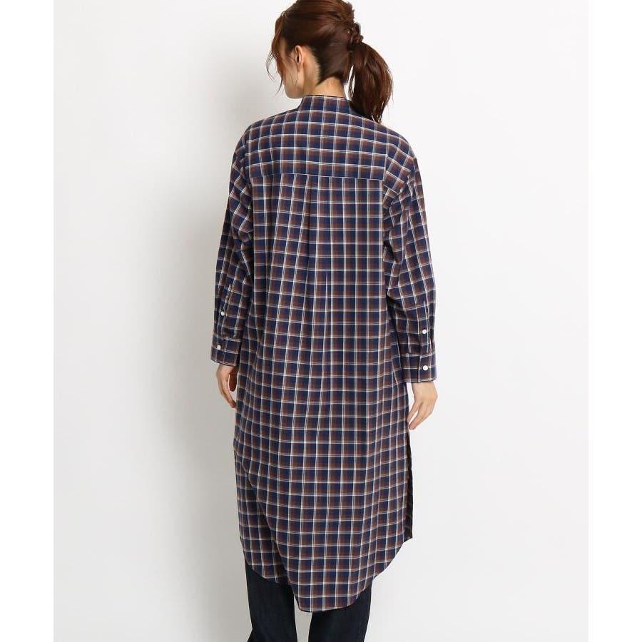 【Sサイズあり 洗える】コットン秋色チェックワンピース 12