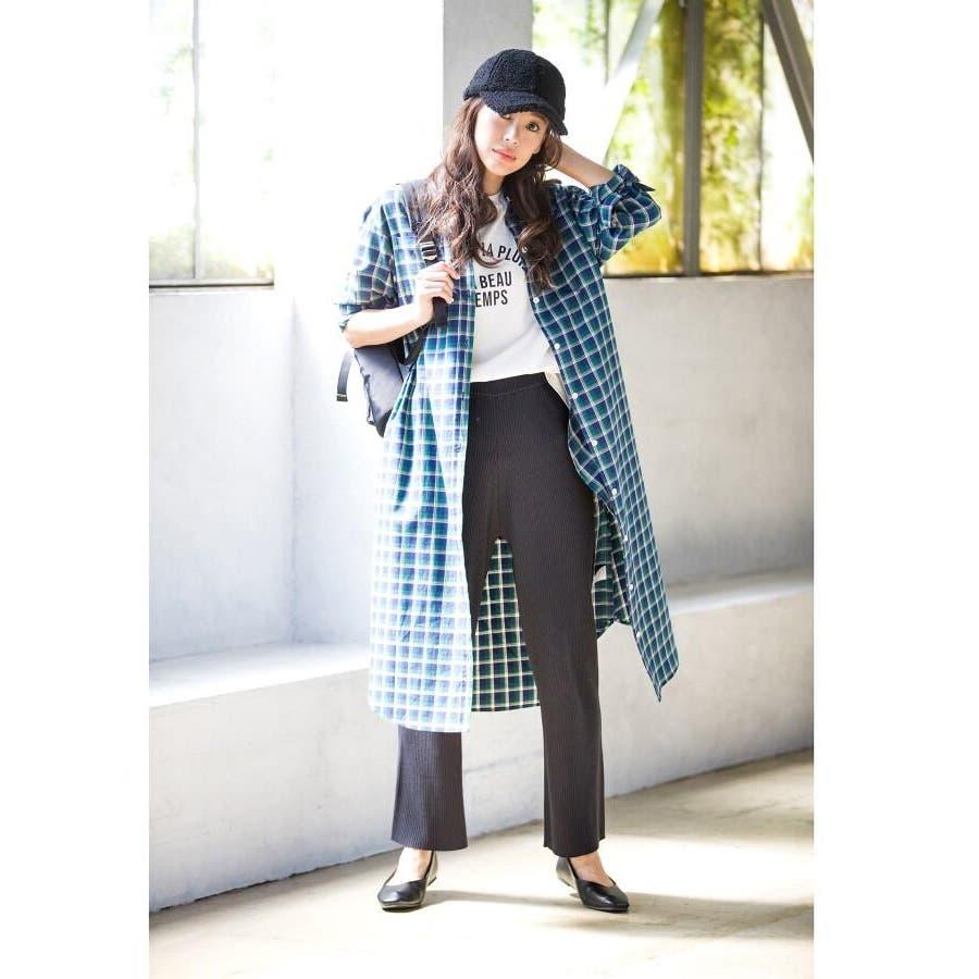 【Sサイズあり 洗える】コットン秋色チェックワンピース 6