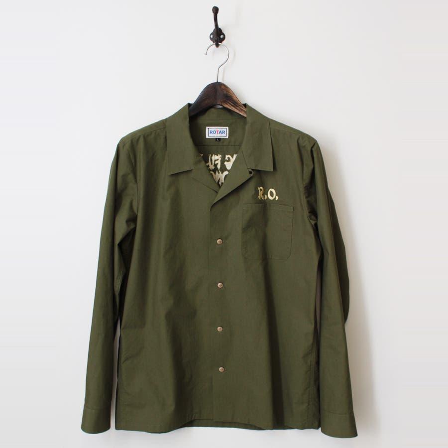 様々なコーデにマッチする メンズファッション通販R.O.MUSTER Open Collar Shirt 買収
