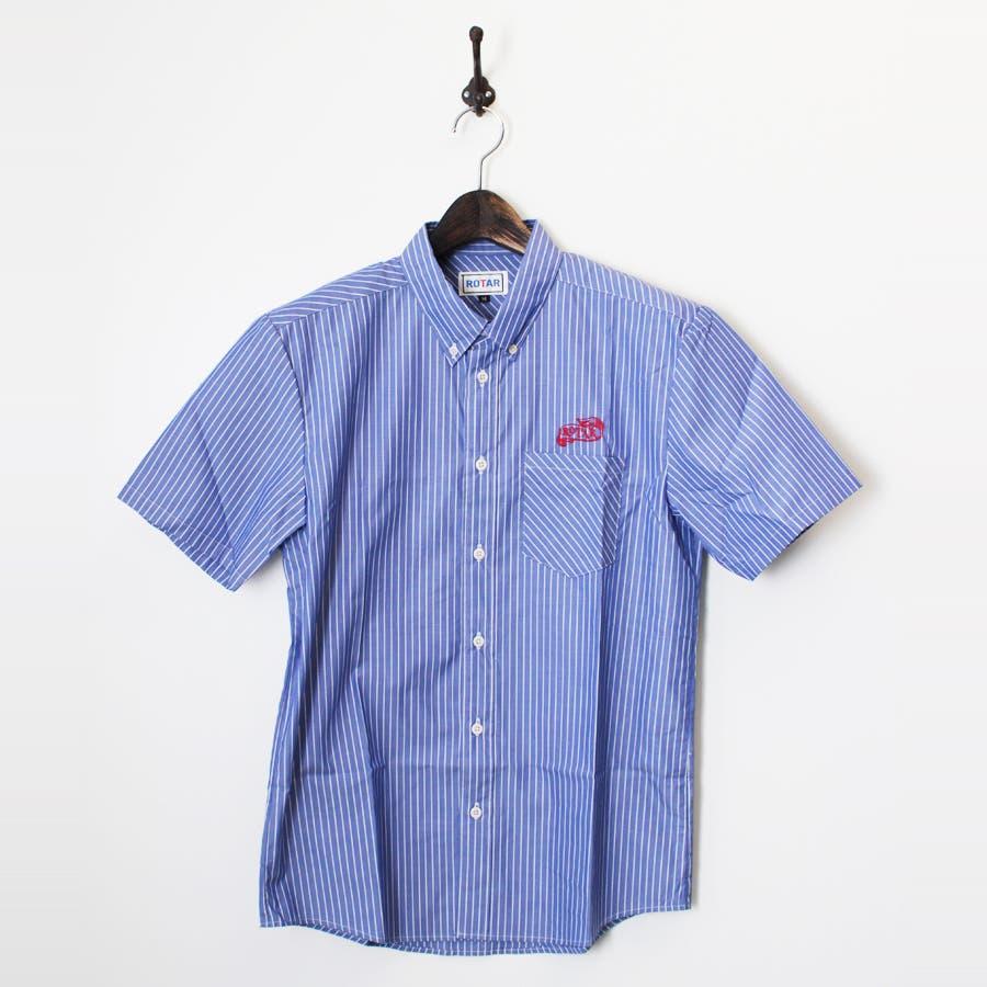 最高に今年っぽい Broadcloth stripe B.D. S S Shirt 罰点