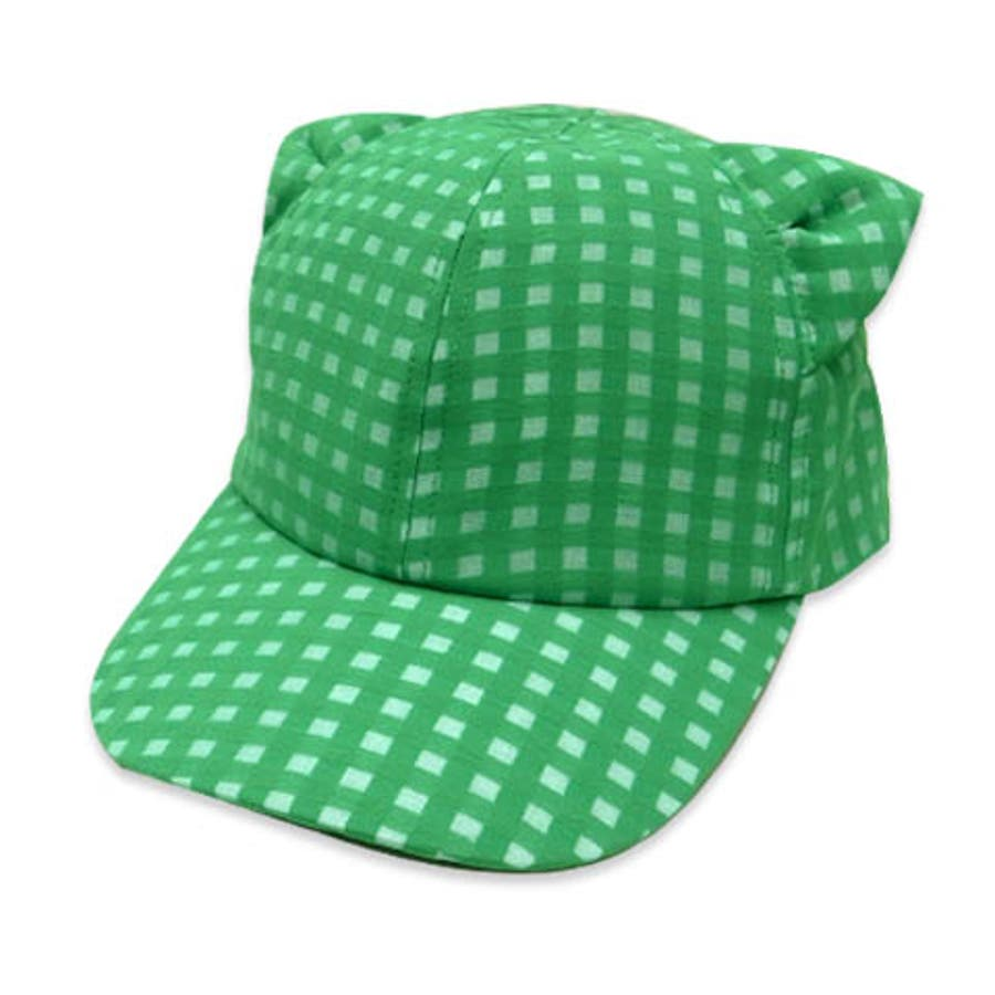 minau(ミナウ) キッズ SHEER CHECK CAT EARS CAPねこ耳 キャップ 男の子 女の子 47