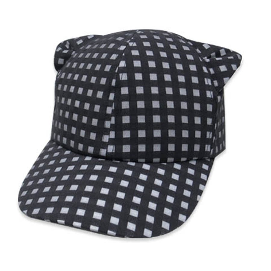 minau(ミナウ) キッズ SHEER CHECK CAT EARS CAPねこ耳 キャップ 男の子 女の子 22