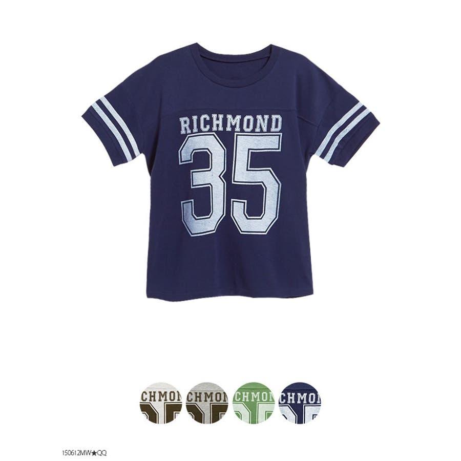 取り入れたいトレンド! ナンバーリングロゴ5分袖スウェットTシャツ|MR|GL|CS 不意