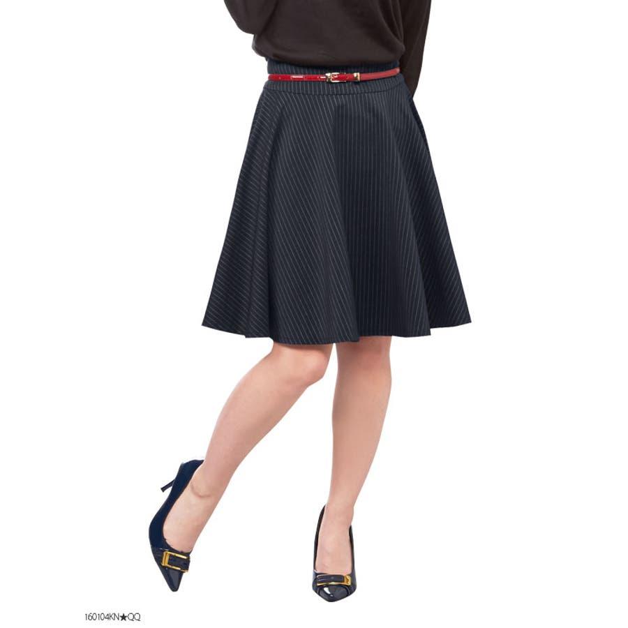 もっと可愛く? 154cm向け 洗えるストレッチ単品スーツフレアースカート|LT|ST 重要