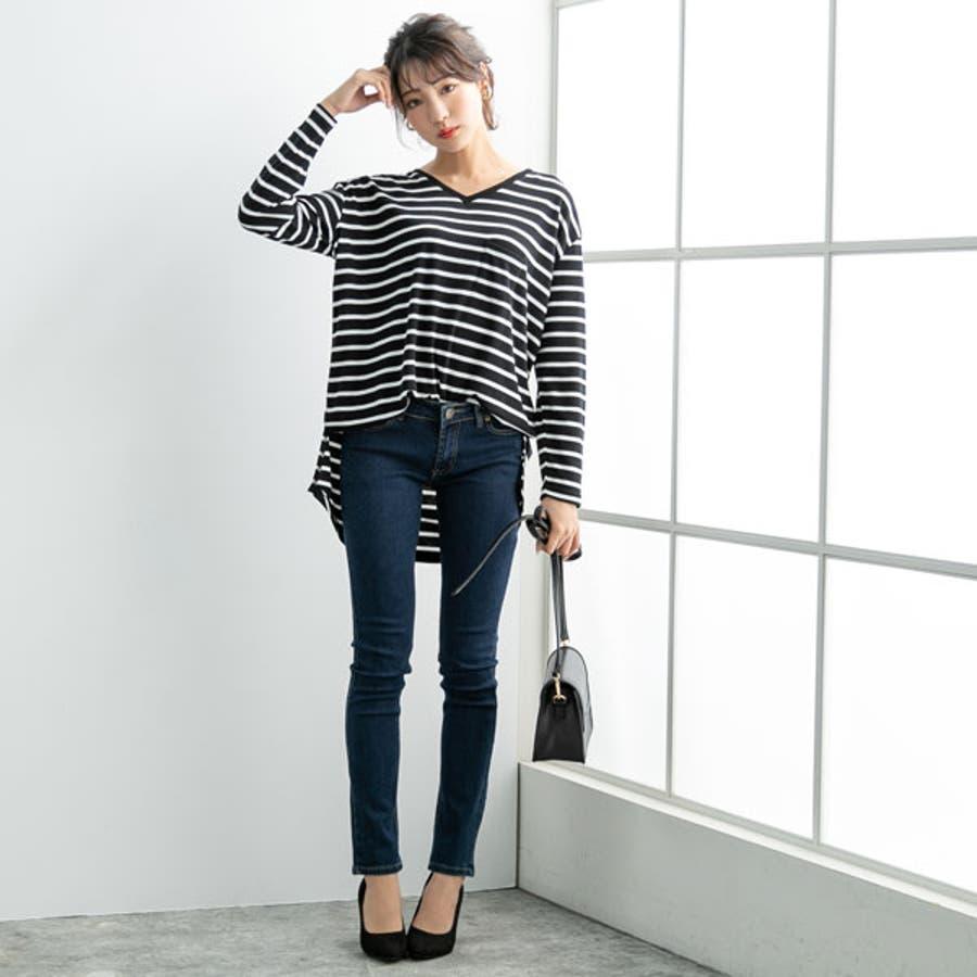 [Vネック&クルーネックポケット付き長袖Tシャツ|NL|CS||] 8