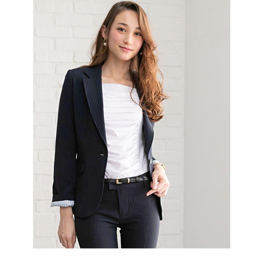 b9f85002701fd スーツ ビジネス セットアップ パンツスーツ2点セット ビジネススーツ ...