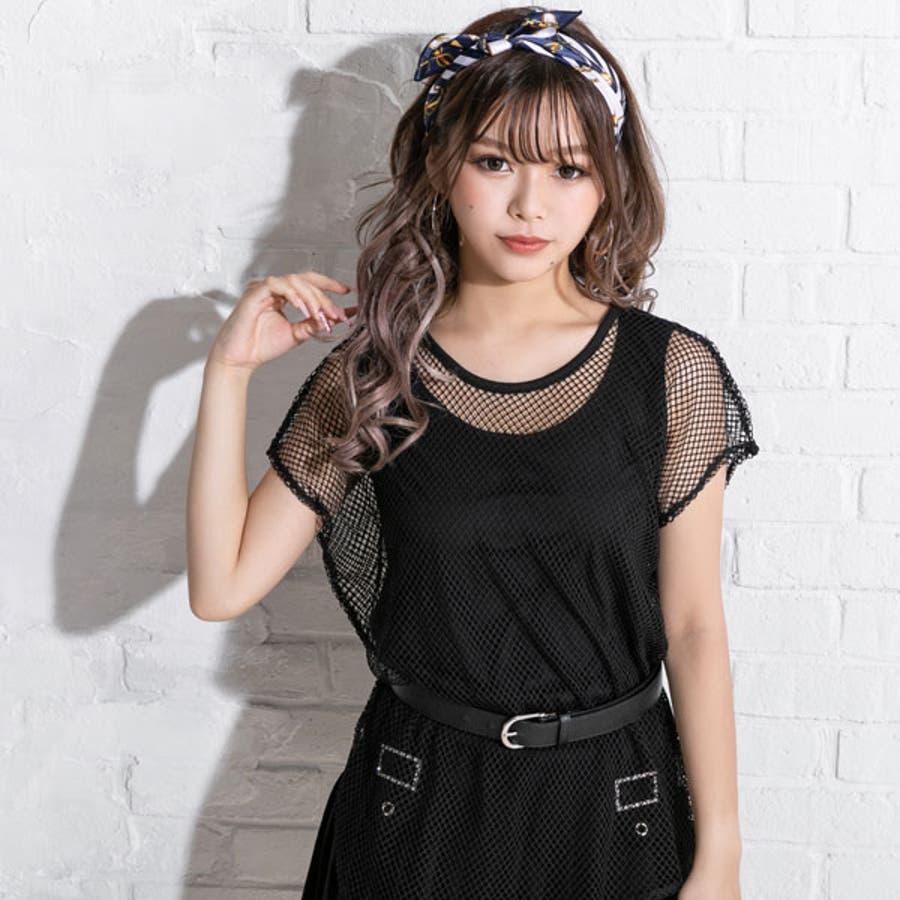 Tシャツ レイヤード メッシュT 6
