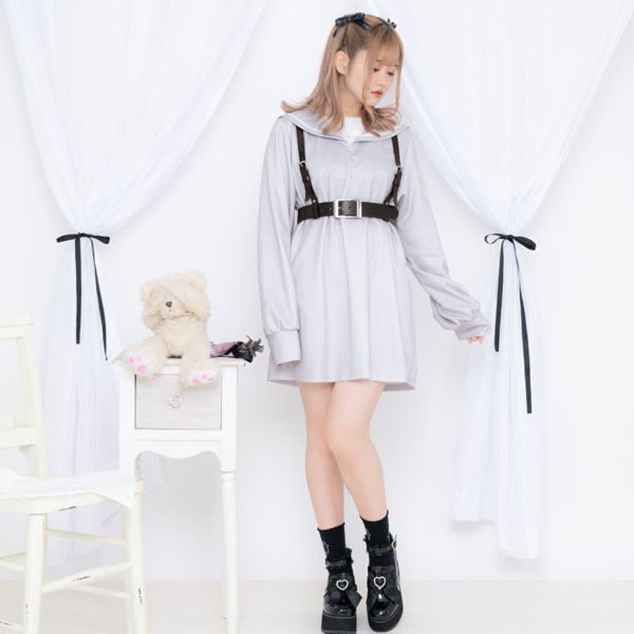 闇天使カットソーワンピース 韓国 オルチャン 夢展望 4