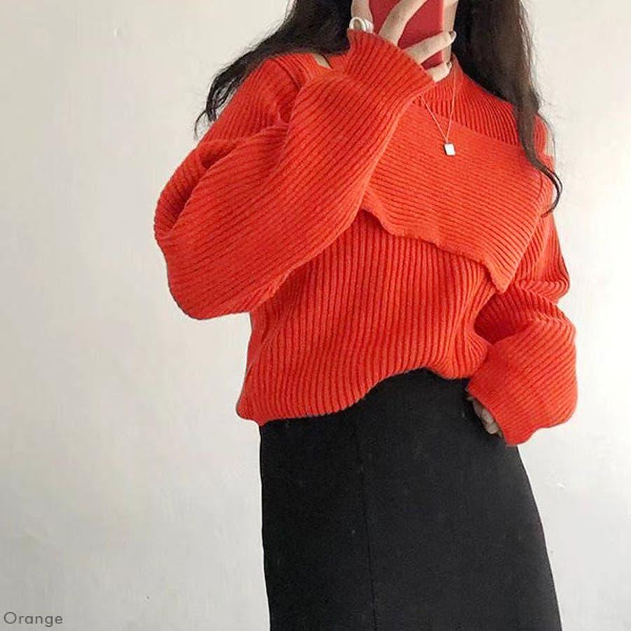 デザインニットトップス 韓国 オルチャン 夢展望 6