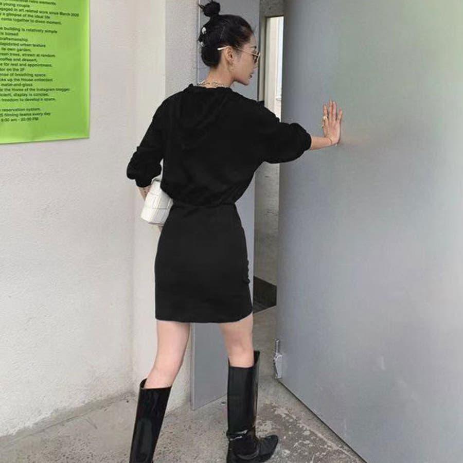 パーカーワンピース 韓国 オルチャン 夢展望 5