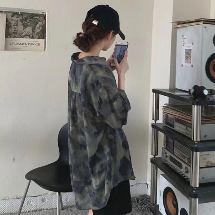 オーバーサイズシアータイダイシャツ 韓国 オルチャン 夢展望 2
