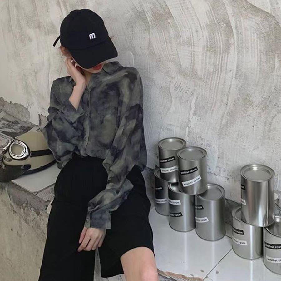 オーバーサイズシアータイダイシャツ 韓国 オルチャン 夢展望 3
