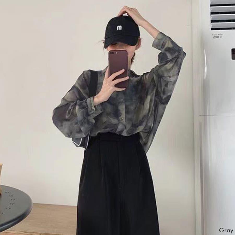 オーバーサイズシアータイダイシャツ 韓国 オルチャン 夢展望 4