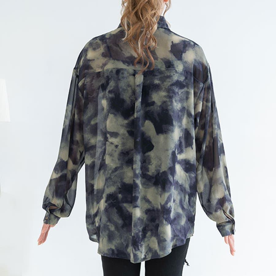オーバーサイズシアータイダイシャツ 韓国 オルチャン 夢展望 8