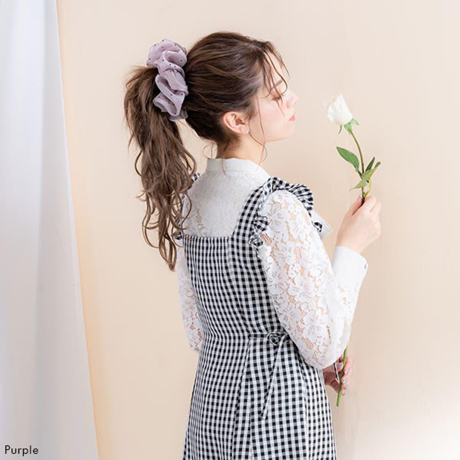 ドットサテンシュシュ 韓国 オルチャン 夢展望 6