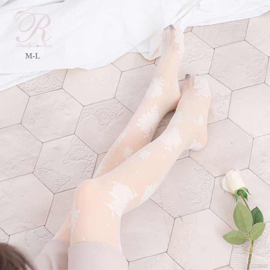 Rose柄タイツ 韓国 オルチャン 夢展望 1