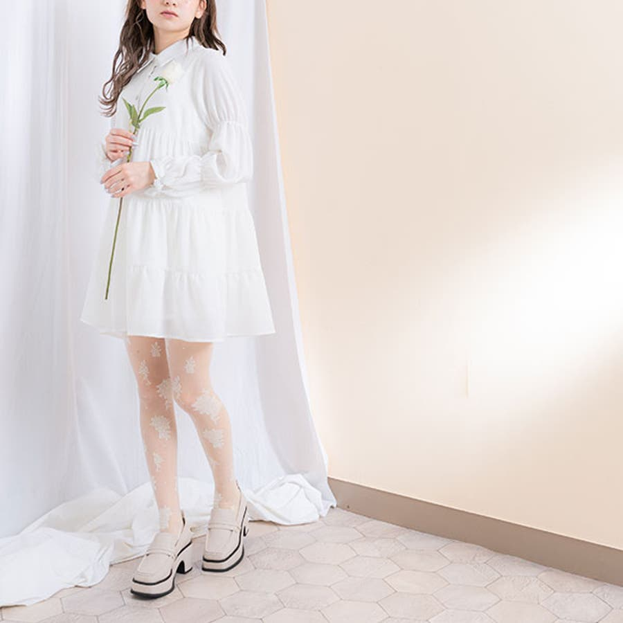 Rose柄タイツ 韓国 オルチャン 夢展望 4