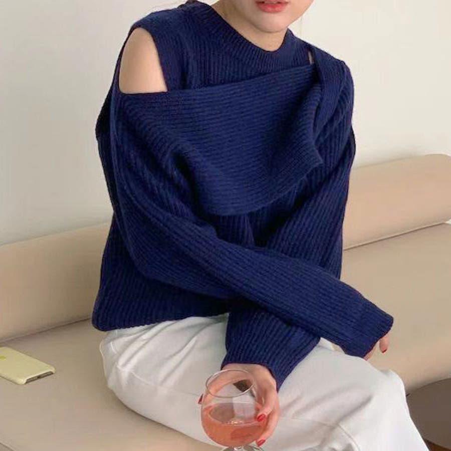 デザインニットトップス 韓国 オルチャン 夢展望 65