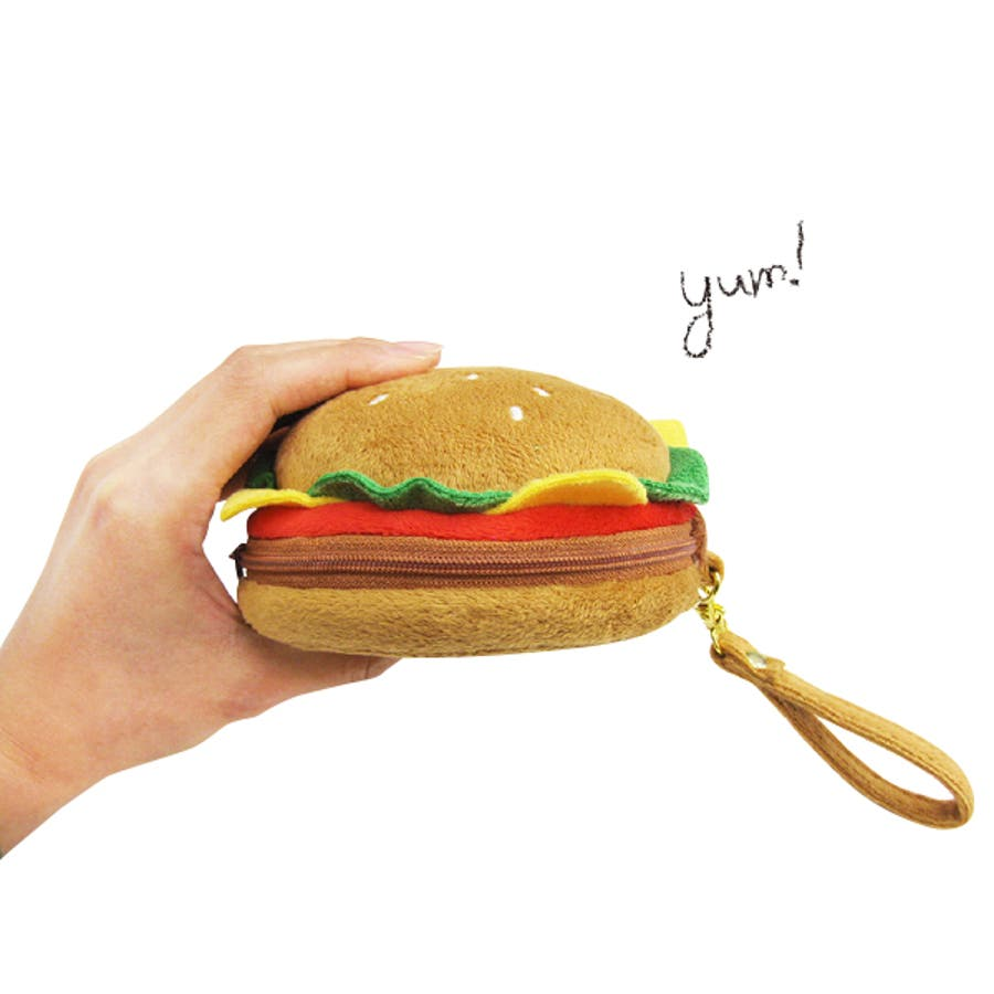 ハンバーガー ポーチ食べ物 食品 化粧品 収納 小物入れ バッグインポーチ 整理 2