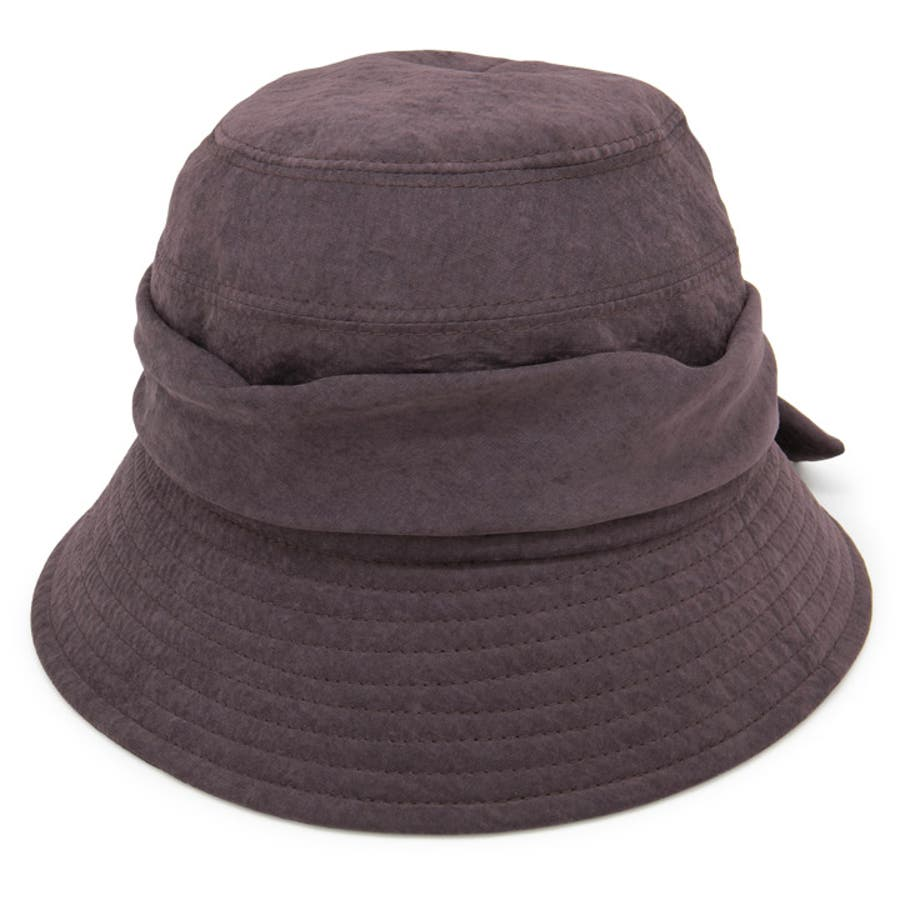洗濯機で洗える帽子 レディース ハット リボン 秋冬 ウォッシャブル milsa WashableTaffetaクロッシェ 108