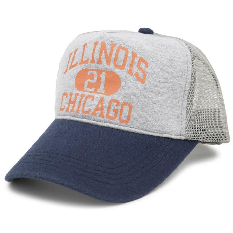 キャップ 春夏 メンズ 帽子 レディース CAP メッシュキャップ スウェット サイズ調節 CASTANOカレッジSWEATメッシュキャップ 108