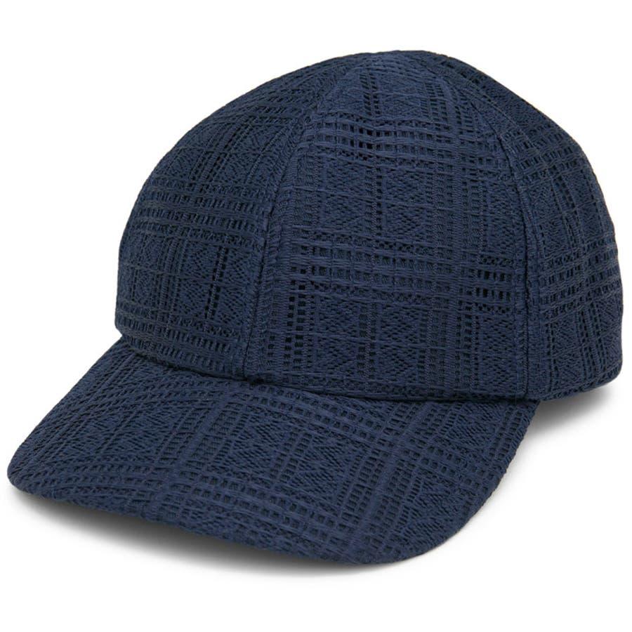 キャップ レディース 春夏 帽子 サイズ調整 milsa Rasselレース キャップ 64