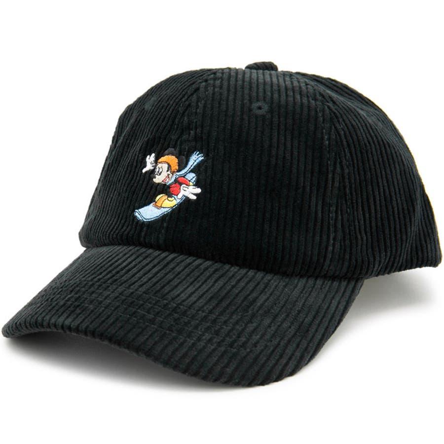 キャップ ミッキーマウス 帽子 レディース メンズ 6パネル ローキャップ 秋冬 ディズニー CAP CASTANOミッキーマウスCorduroyキャップ 2
