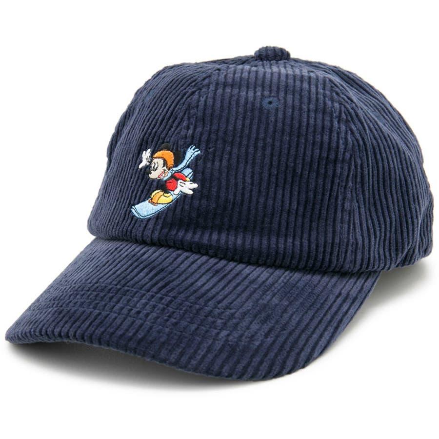 キャップ ミッキーマウス 帽子 レディース メンズ 6パネル ローキャップ 秋冬 ディズニー CAP CASTANOミッキーマウスCorduroyキャップ 7