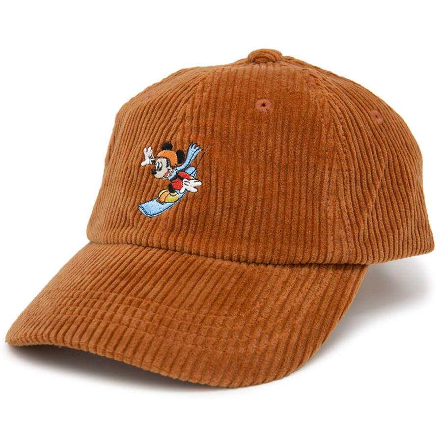 キャップ ミッキーマウス 帽子 レディース メンズ 6パネル ローキャップ 秋冬 ディズニー CAP CASTANOミッキーマウスCorduroyキャップ 12