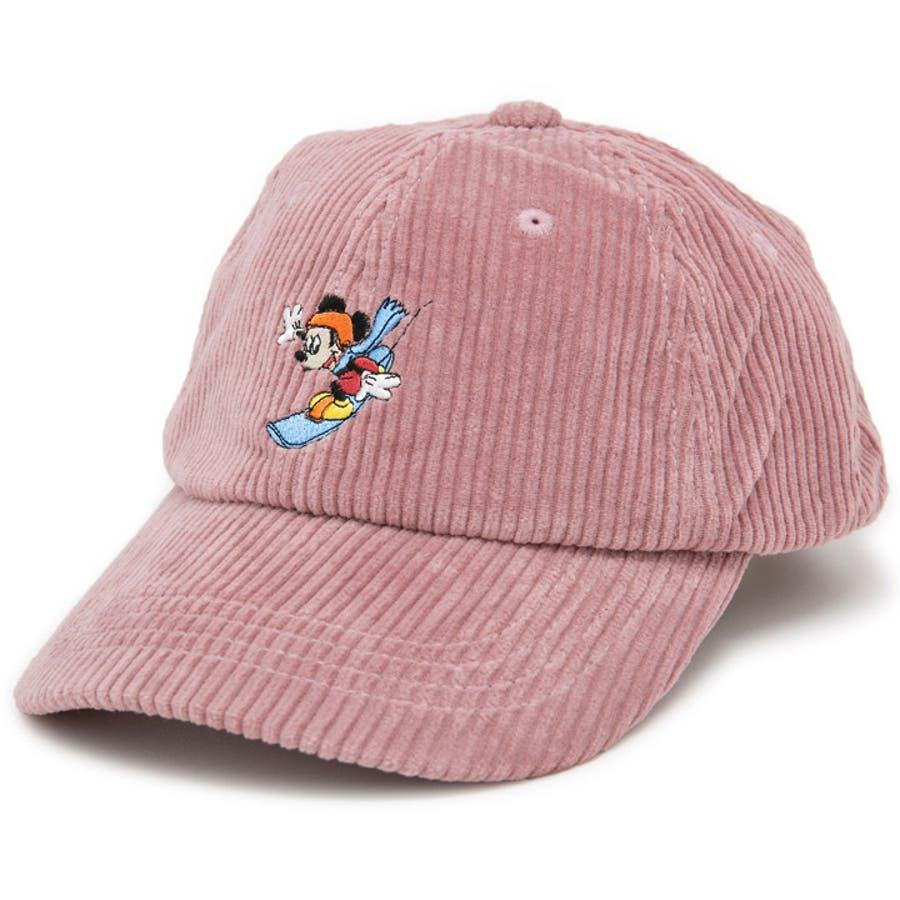 キャップ ミッキーマウス 帽子 レディース メンズ 6パネル ローキャップ 秋冬 ディズニー CAP CASTANOミッキーマウスCorduroyキャップ 10