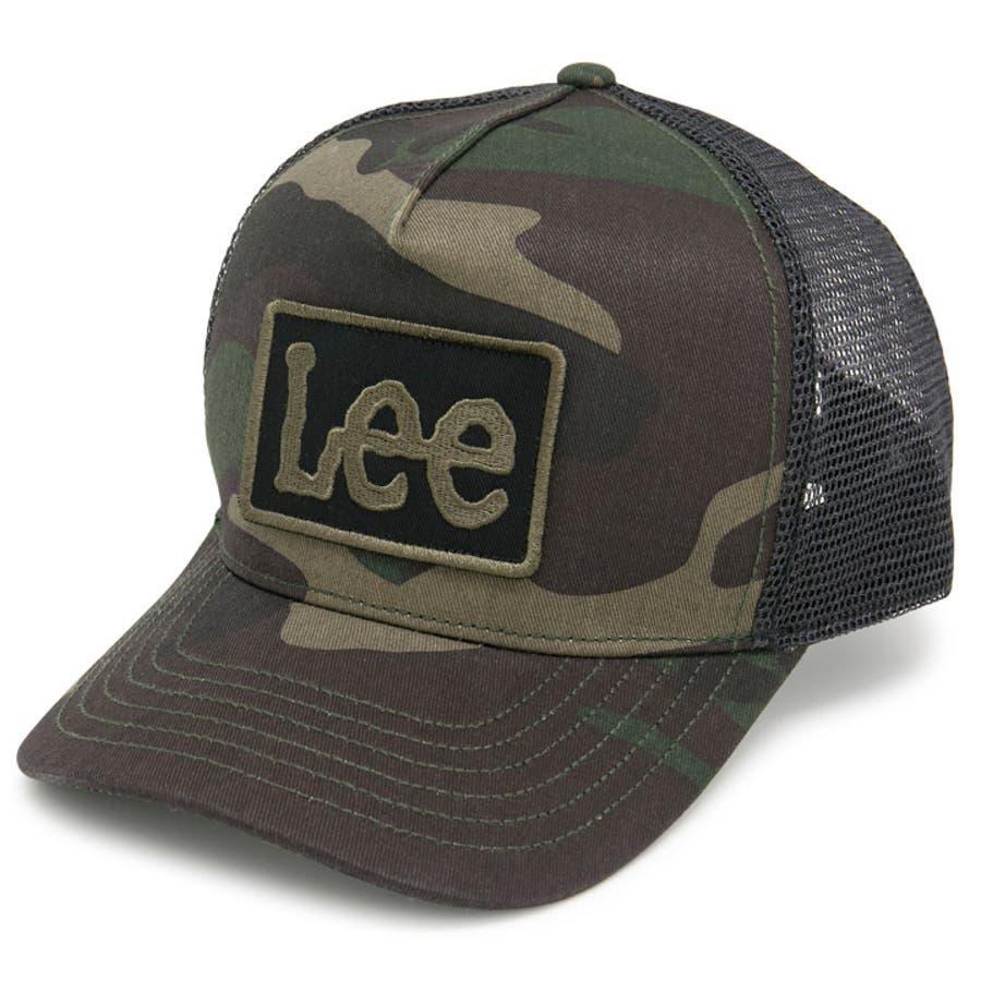 キャップ メンズ 帽子 Lee 春夏 レディース サイズ調節 CAP Lee刺繍ワッペンメッシュキャップ 108