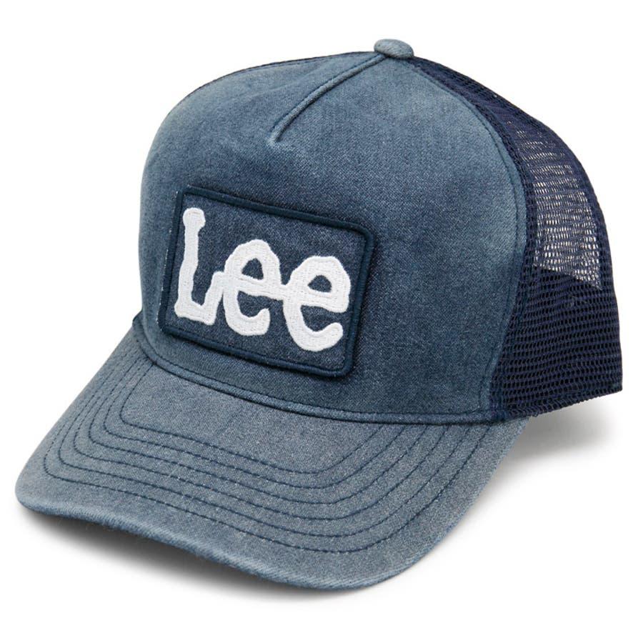 キャップ メンズ 帽子 Lee 春夏 レディース サイズ調節 CAP Lee刺繍ワッペンメッシュキャップ 76