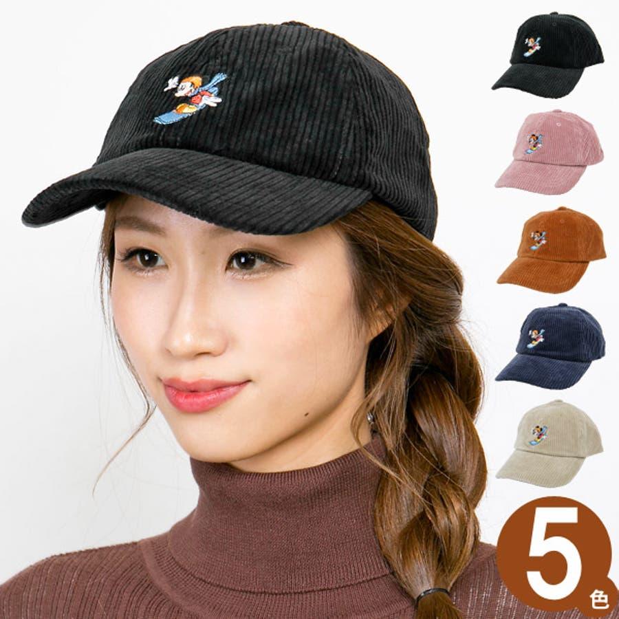 キャップ ミッキーマウス 帽子 レディース メンズ 6パネル ローキャップ 秋冬 ディズニー CAP CASTANOミッキーマウスCorduroyキャップ 1