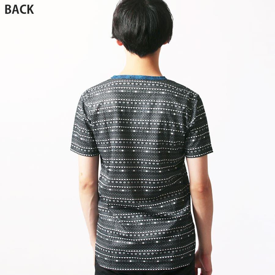 メンズ 裾ラウンド 総柄Tシャツ 半袖Tシャツ 「839-05」【MG50】 10