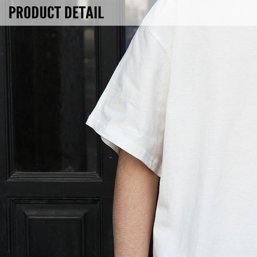 メンズ Tシャツ ティーシャツ BIGサイズ ビッグ 大きめ ゆったり 半袖 5分袖 裾ラウンド プリント バックプリントロゴアメカジ カジュアル「820-37」【MG10】 4