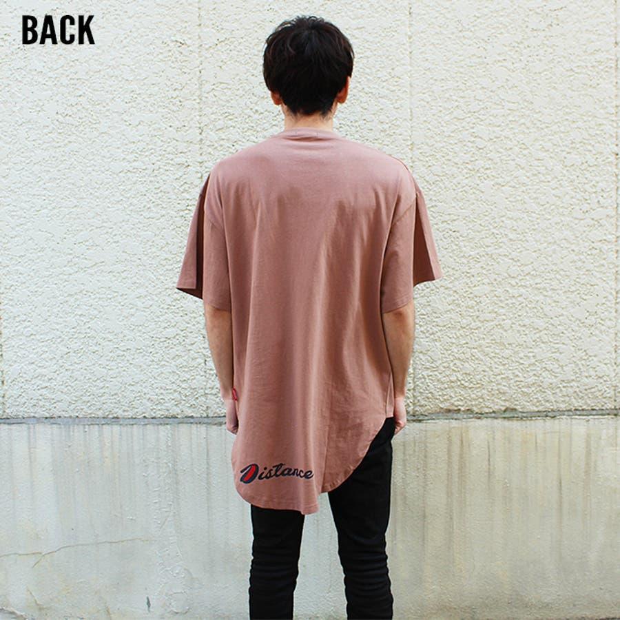 メンズ Tシャツ ティーシャツ BIGサイズ ビッグ 大きめ ゆったり 半袖 5分袖 裾ラウンド プリント バックプリントロゴアメカジ カジュアル「820-37」【MG10】 8