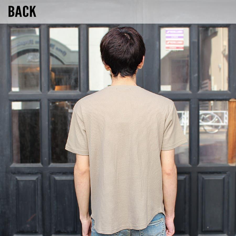 メンズ Tシャツ 半袖Tシャツ ティーシャツ 無地Tシャツ ガゼット付き 汗止め ワッフル くすみカラー夏物夏服「SJ20-108」【MG10】 7