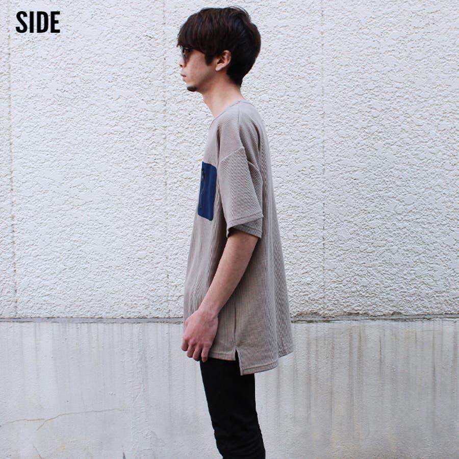 メンズ Tシャツ 半袖Tシャツ ティーシャツ 無地Tシャツ ポケット付き BIGTシャツ ビッグtシャツビックtシャツビッグシルエット 大きめ ゆったり 夏物 夏服「SJ20-111」【MG10】 7