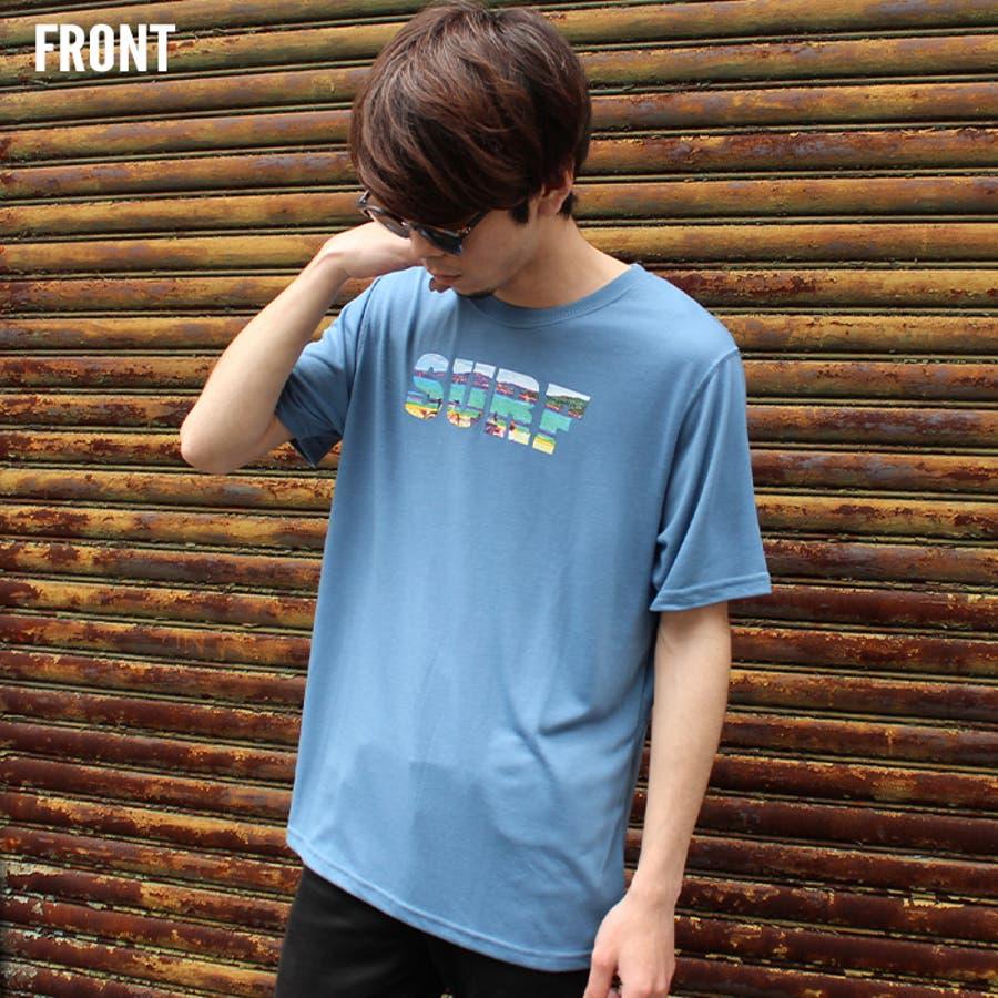 メンズ Tシャツ 半袖Tシャツ クルーネックTシャツ プリントTシャツ M L XL ポケット付き 天竺 分解プリントサーフ系アメカジ 「830-07」【MG10】 6