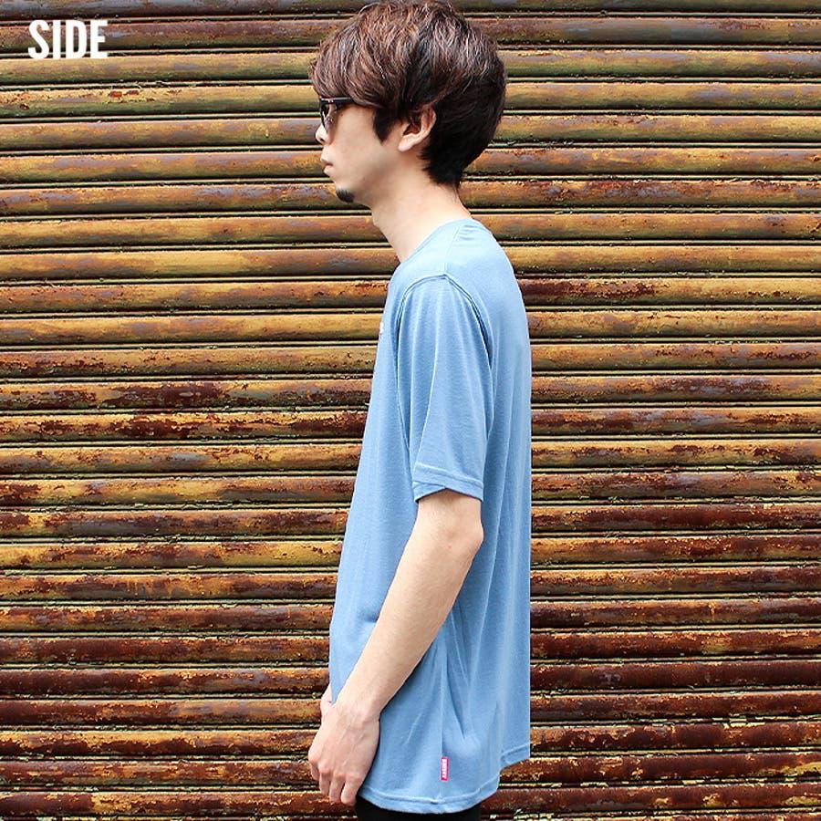 メンズ Tシャツ 半袖Tシャツ クルーネックTシャツ プリントTシャツ M L XL ポケット付き 天竺 分解プリントサーフ系アメカジ 「830-07」【MG10】 7