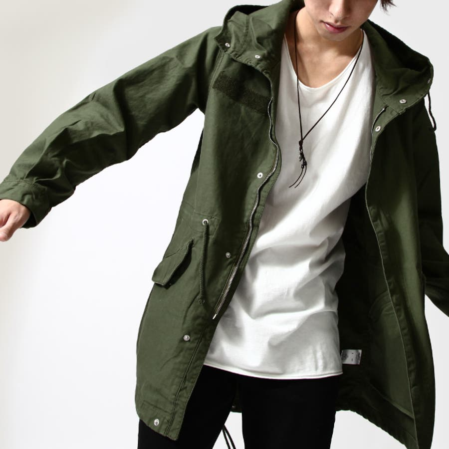 モッズコート メンズ/メンズファッション/M,51 コットン ミリタリージャケット フード ロングコート