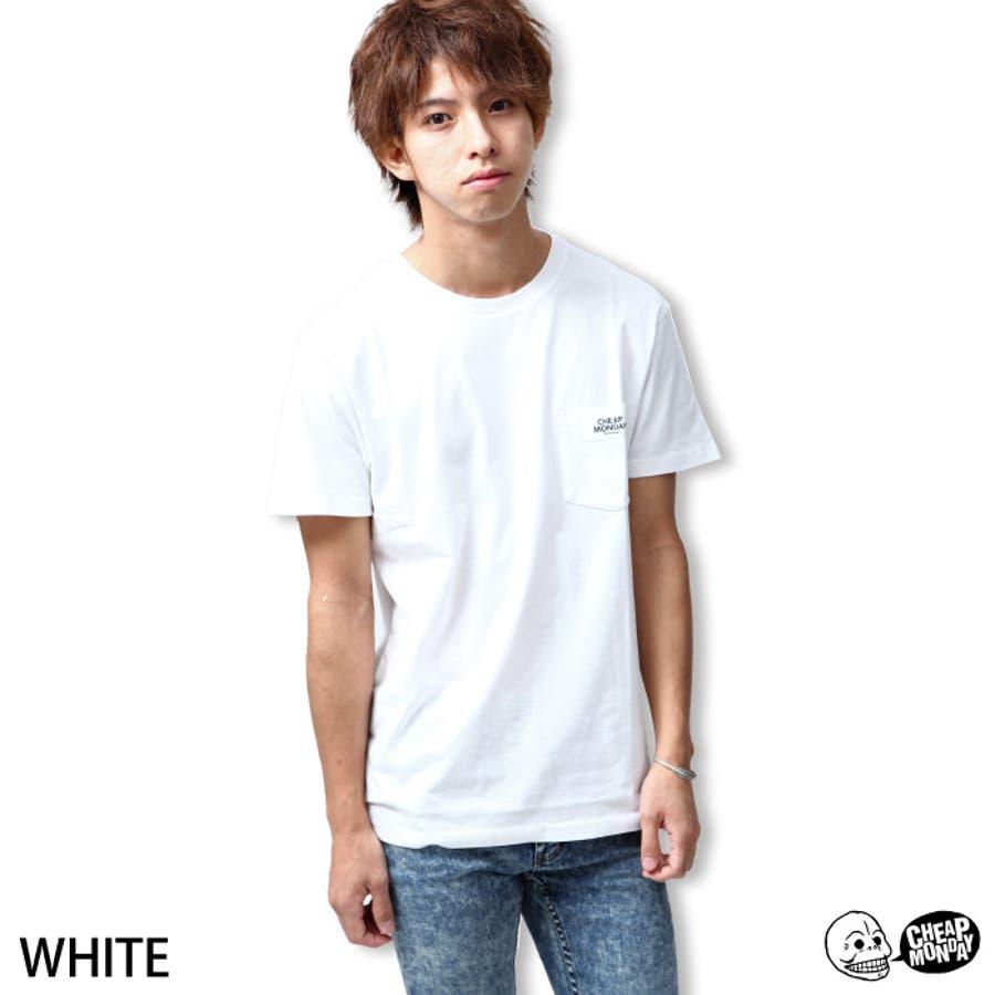 質感も良く形もいい感じです! Tシャツ メンズ メンズファッション 夏服 夏物 夏 CHEAP MONDAY チープマンデー カットソー 無地 白T 半袖 zip-cs  0331482 迎合