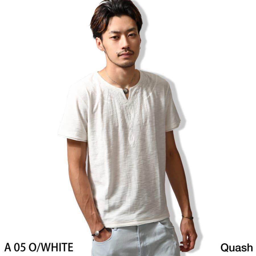 お洒落に見える Tシャツ メンズ メンズファッション 夏 夏服 夏物 カットソー 半袖 キーネック ボヘミアン プリント ホワイト ブラック カーキ zip-cs  q617-28s  Tシャツ トップス tシャツ 倍増